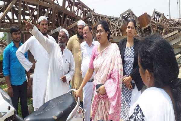 chief-judicial-magistrate-mona-singh-visit-flood-affected-areas-faridabad