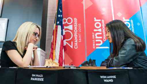 Les départages en rapide et blitz entre Annie Wang et Nazi Paikidze ce lundi à 20h - Photo © US Chess Championship