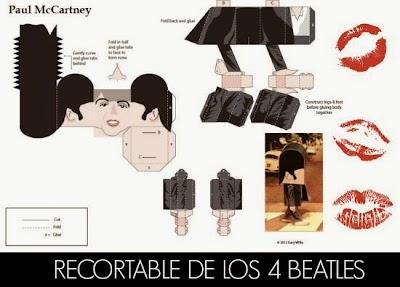 Recortable Plantilla de los Beatles. Paso de Cebra