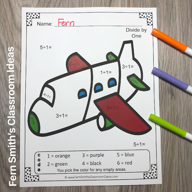 Click Here to Downlead This Color By Number Addition, Subtraction, Multiplication, and Division Transportation Printables Resource Bundle for Your Classroom Today!