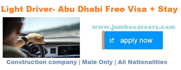 urgent driver vacancy for abu dhabi april 2018