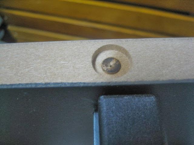 KORG SP-170S 専用スタンドの木口(断面)