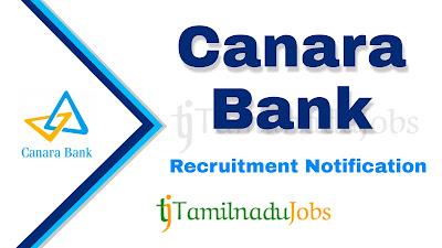 Canara Bank Recruitment Notification 2020, banking jobs, central govt jobs, Canara Bank Recruitment Notification,