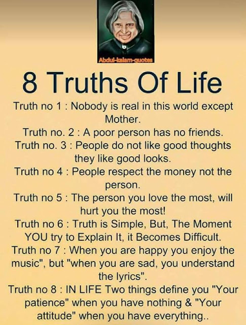 Abdul Kalam Best Quotes truth of life