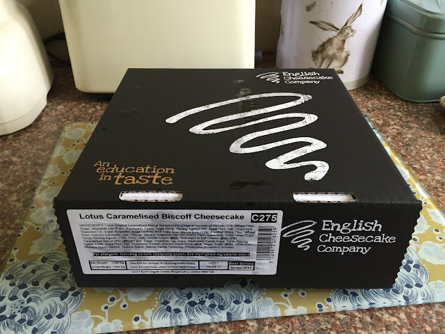 English Cheesecake Company box