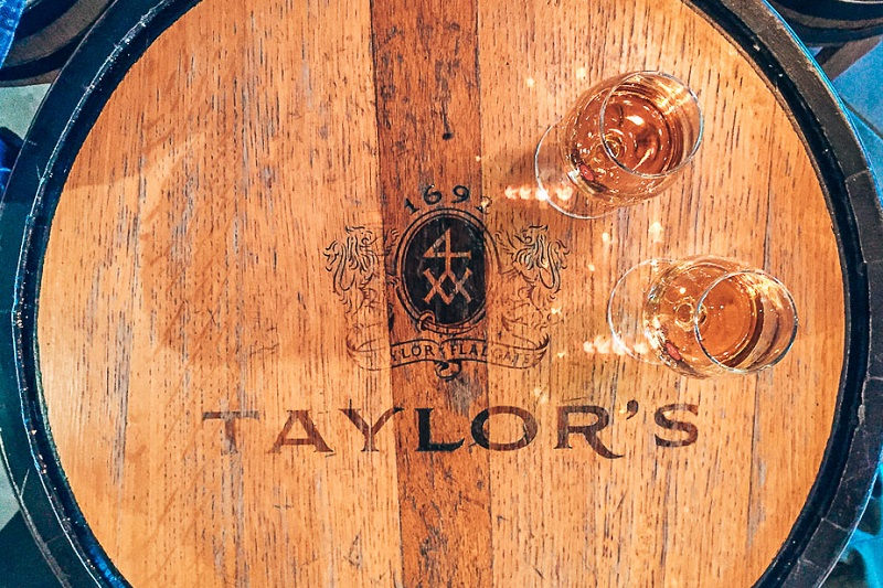 Port wine tasting at Taylors in Porto Portugal
