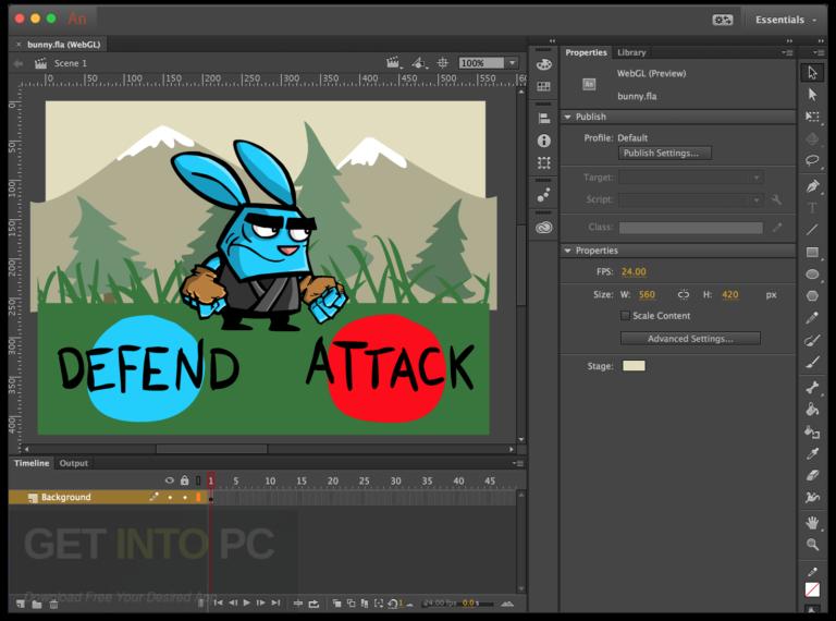 Adobe Animate CC 2018 Offline Setup File Free Download