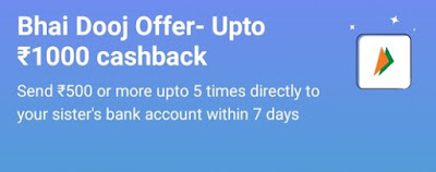 Paytm UPI Offer - Get Upto Rs.1000 Cashback