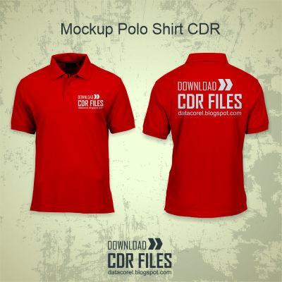 Download Desain Mock Up Kaos Polo CDR Free