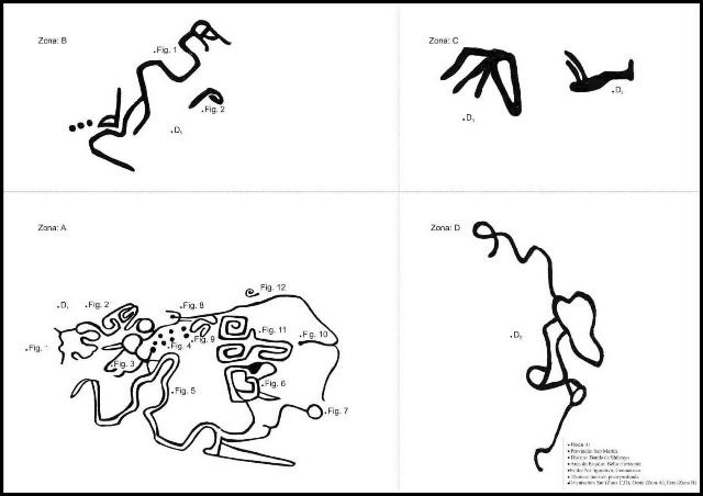 Plano 3 o Plano de la Roca III de los Petroglifos de Polish (Bello Horizonte, Perú)