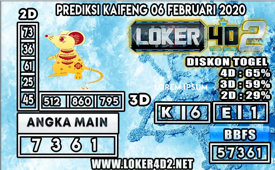 PREDIKSI TOGEL KAIFENG LOKER4D2 06 FEBRUARI 2020