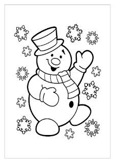 דף צביעה איש שלג חמוד ופתיתי שלג