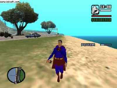 GTA San Andreas Superman MOD,wallpapers, screenshots, images, photos, cover, poster