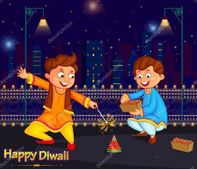 diwali images cartoon