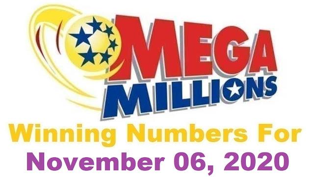 Mega Millions Winning Numbers for Friday, November 06, 2020