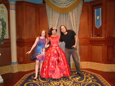 Meeting Elena at Disney World