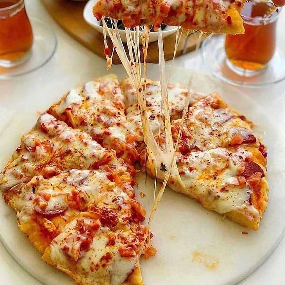 بيتزا المقلاة على الطريقة التركية