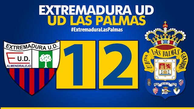 Resultado final Extremadura UD 1-2 UD Las Palmas