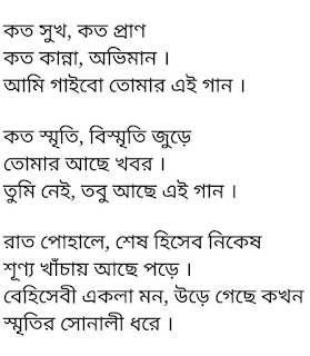 Tumi Nei Lyrics Koushik Chakraborty