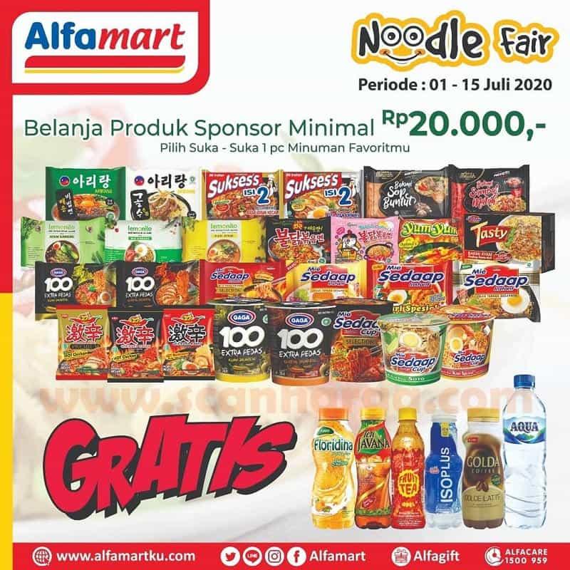Promo Alfamart Noodle Fair Periode 1 - 15 Juli 2020