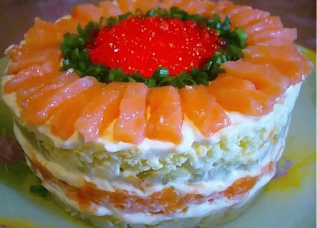 Салат с семгой и апельсином картинка