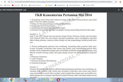 Contoh soal tes P3K Penyuluh Pertanian dan Kunci Jawaban