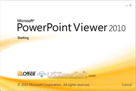 Microsoft PowerPoint Viewer main screen