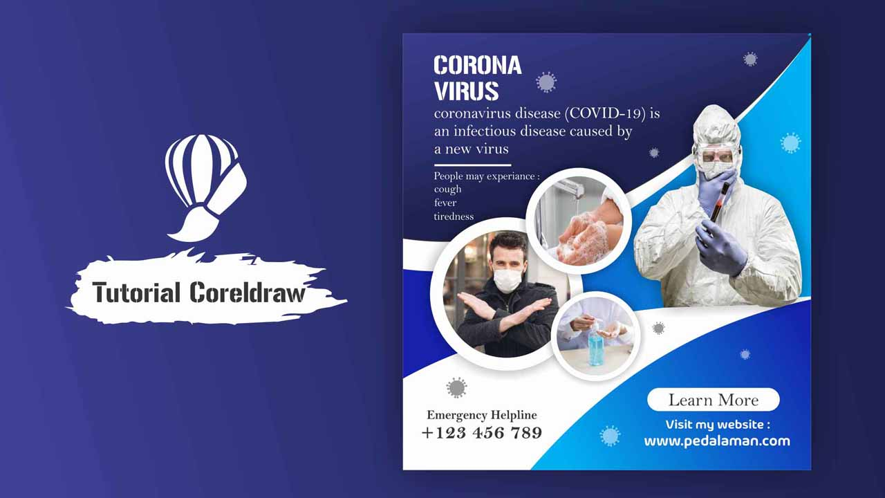 Membuat Poster Kesehatan Corona di Coreldraw