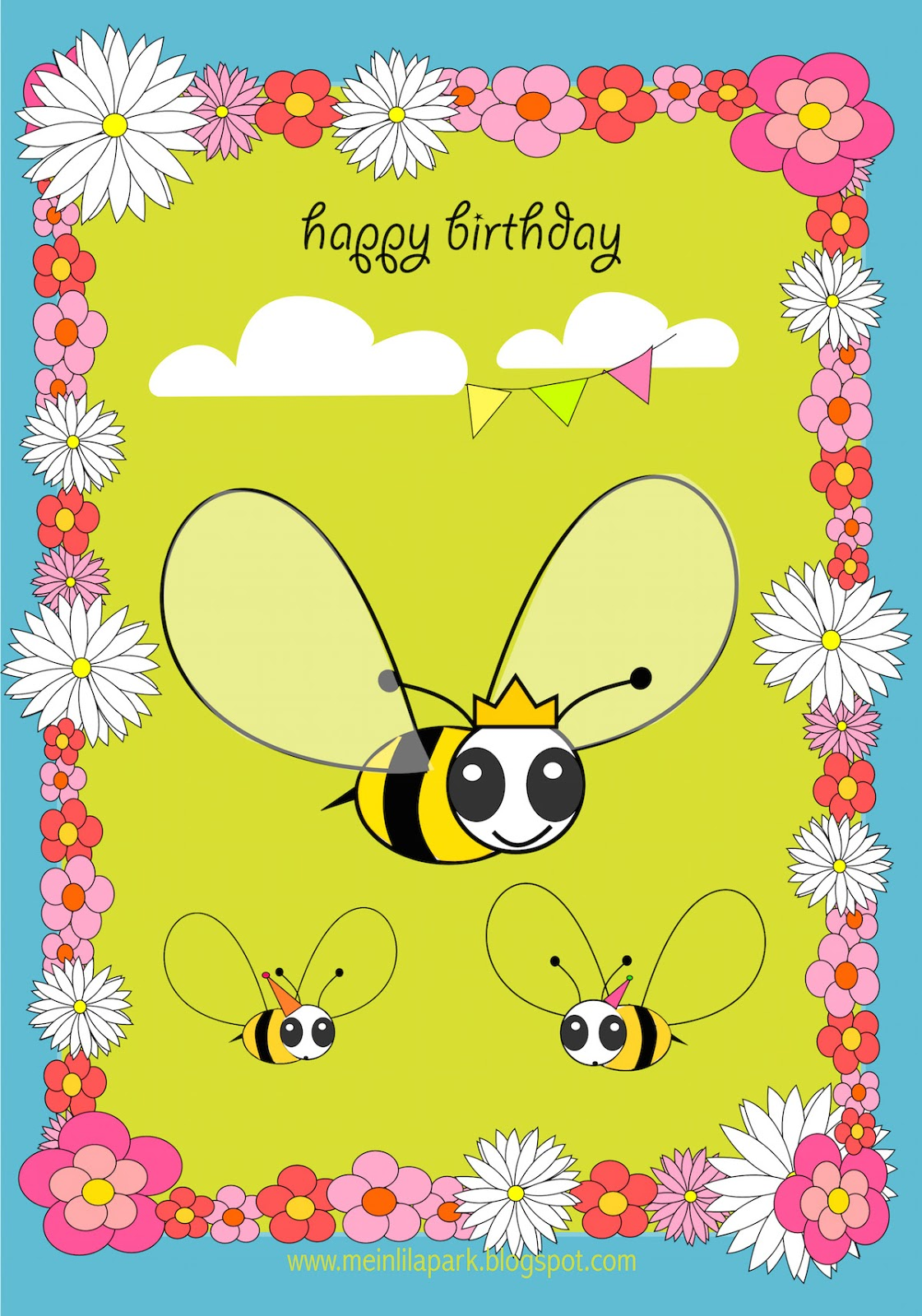 Free Printable Happy Birthday Card For Kids