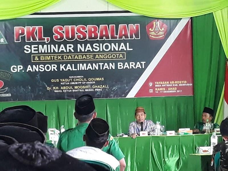 PKL dan Susbalan PW GP Ansor Kalbar, KH. Dr. Abdul Muqsith Ghazali: Pancasila Adalah  Syariat Itu Sendiri