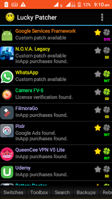 how to mod apps on android using Lucky Patcher app