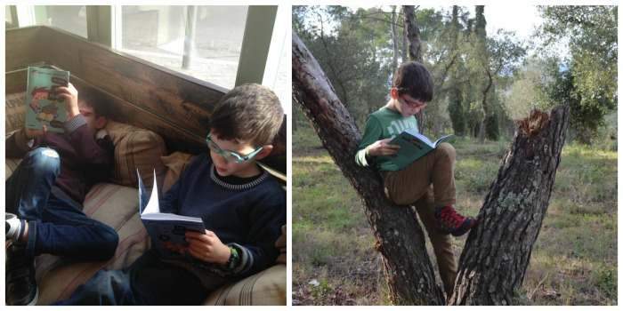 niños que leen, fomentar la lectura día a día
