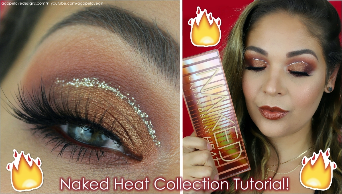 Agape love designs urban decay naked heat collection makeup tutorial well as you can tell todays video is a makeup tutorial featuring the urban decay naked heat collection baditri Image collections