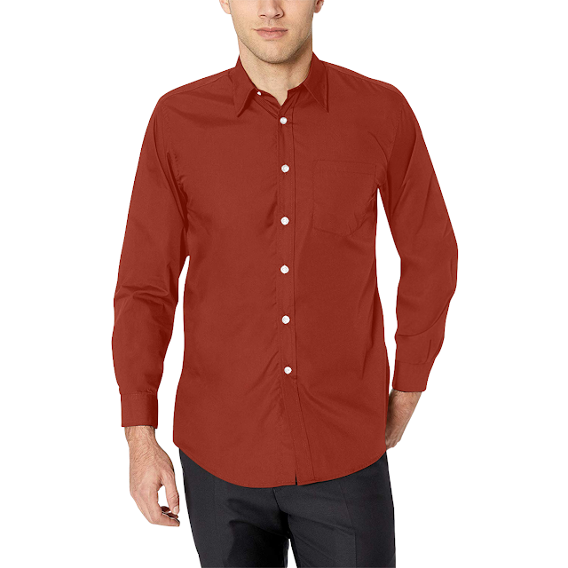 GOMAGEAR FIT LONG SLEEVE SHIRT - DARK RED
