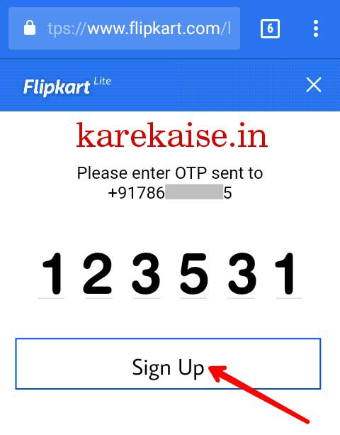 Flipkart par account kaise banaye
