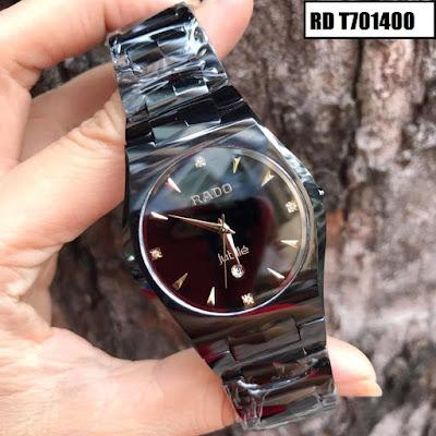 Đồng hồ đeo tay nam mặt tròn dây đá ceramic RD T701400
