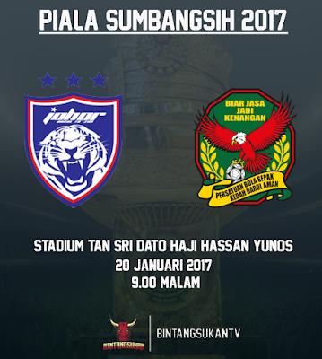JDT Vs Kedah 20 Januari 2017