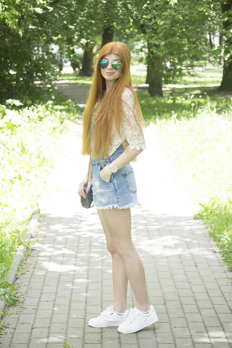 Jeans + koronka | Zestaw na upalne dni