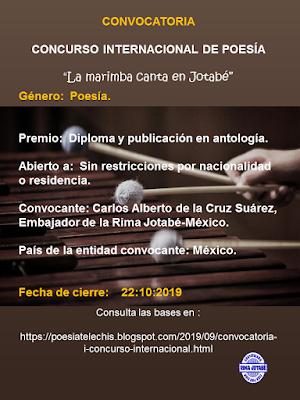 I concurso internacional de rima jotabé-México La marimba canta en jotabé