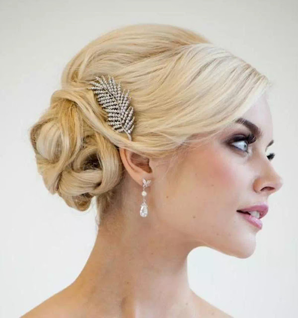 twisted updo for weddings
