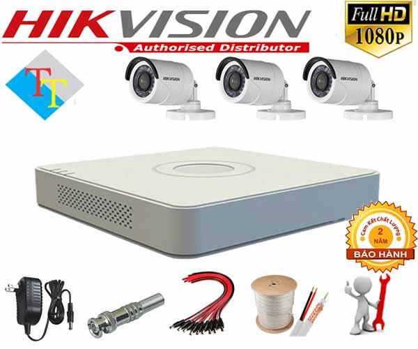 lắp đặt trọ bộ 3 camera hikvision tại bến tre