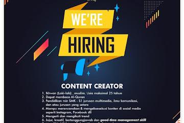 Lowongan Kerja Content Creator Tahfidz Land Group