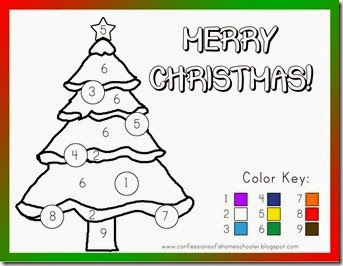 Christmas Color By Number Printables 2
