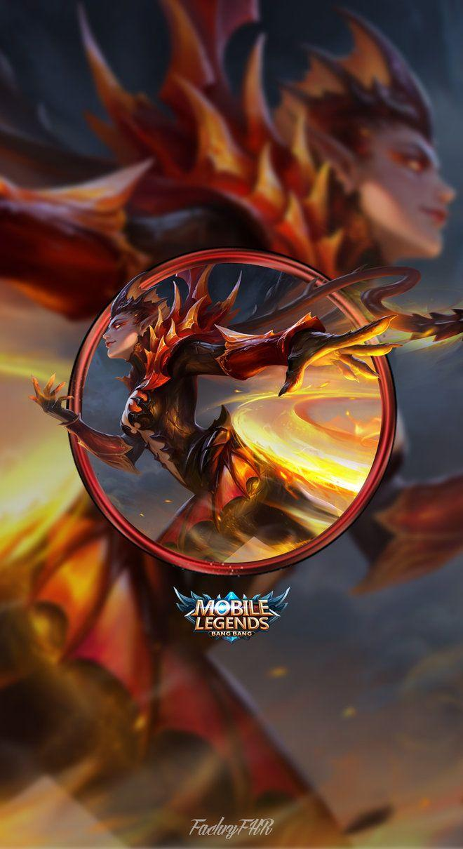 Wallpaper Karrie Dragon Queen Skin Mobile Legends HD for Mobile