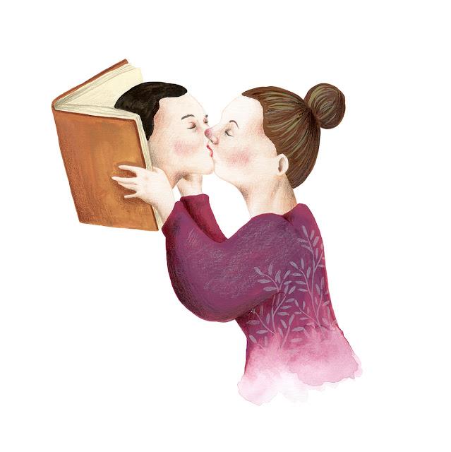 Libros, lectura, beso, booklover, Mar Villar, I love books,