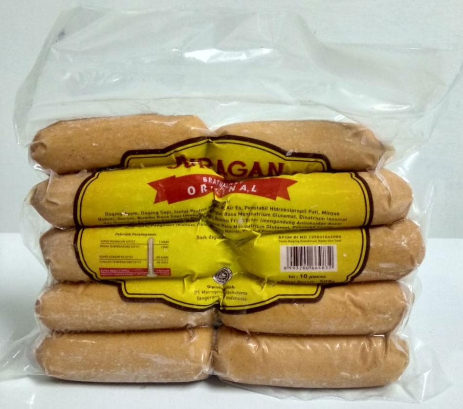 Sosis original produk dari Juragan Sosis isi 10 berat 500g