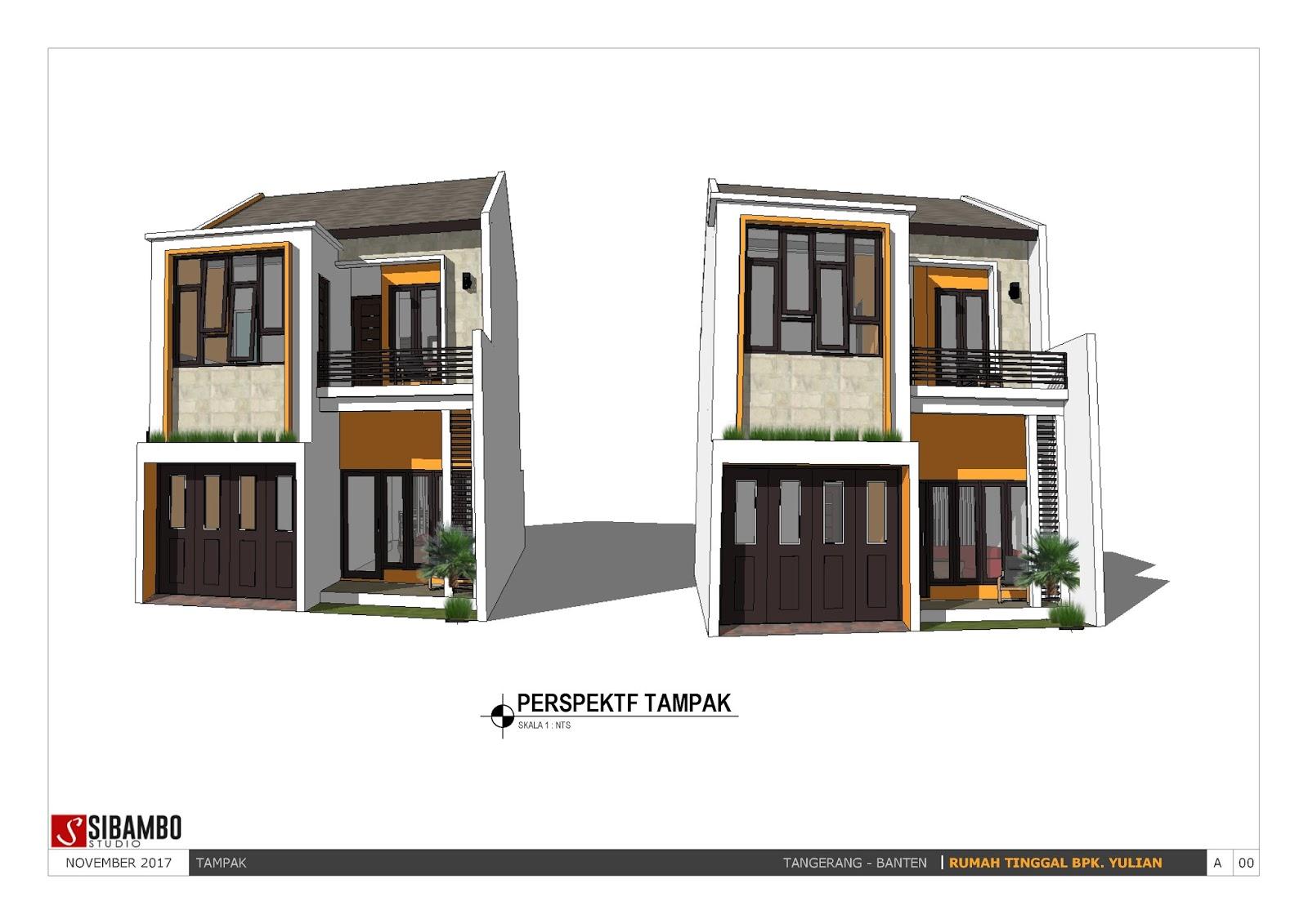 Desain rumah minimalis dua lantai. T&ak Rumah Minimalis Sederhana 2 Lantai 6 x 12 m