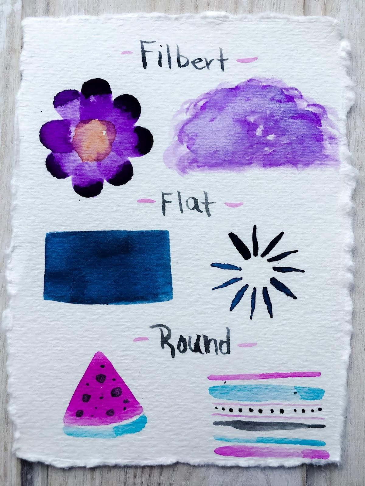 Brush Marks - Brushes - Watercolor Brushes - Watercolor Tips - Art Blog - theartsyboho.com