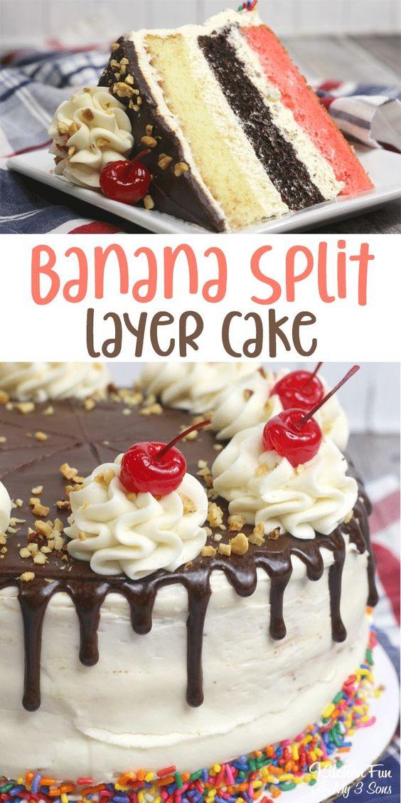 BANANA SPLIT CAKE