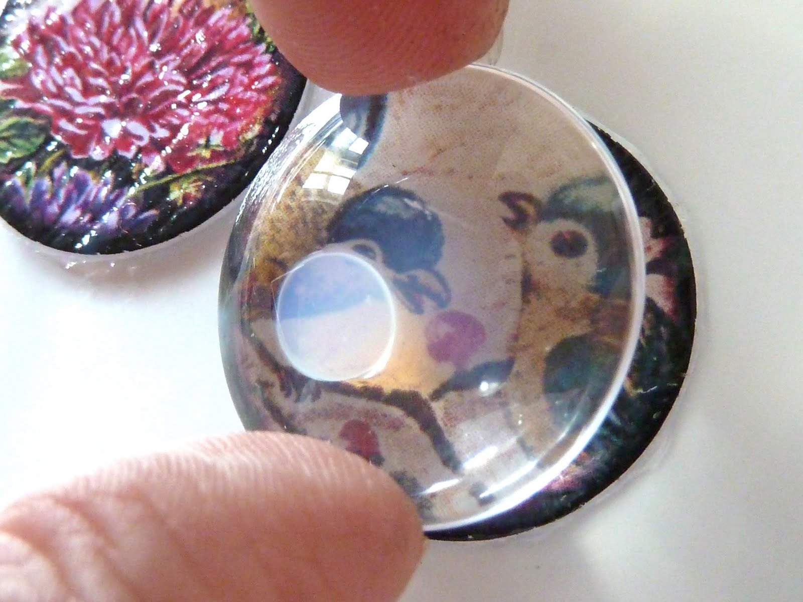 modge podge for glass cabochons